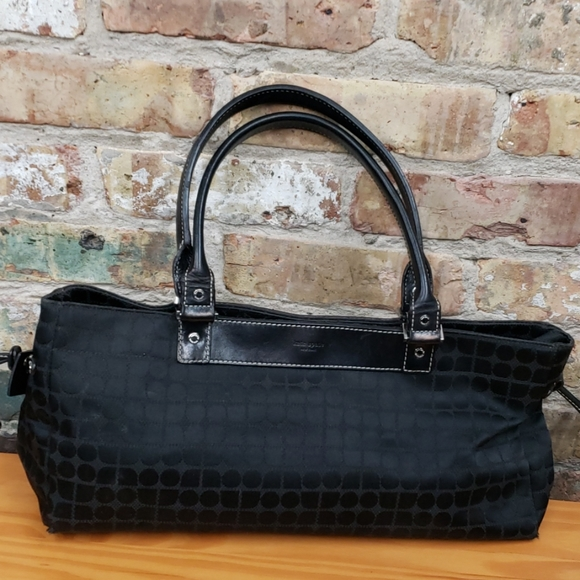 kate spade Handbags - Kate Spade signature black canvas bag